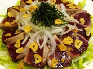 かつおのたたきサラダ-2015.7.8