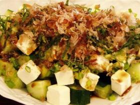 きゅうりとクリームチーズの和風サラダ-2015.7.22