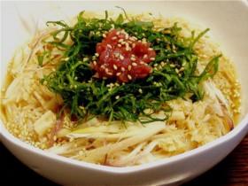 梅しそ貝柱冷麺-2015.7.19