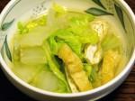 白菜と油揚げの煮びたし-2015.7.23