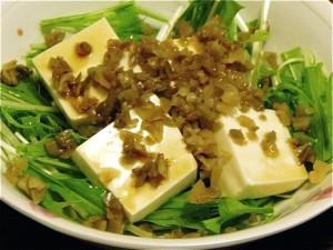 水菜と豆腐のサラダ2種-2-2015.7.23