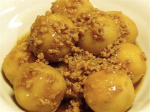 里芋のそぼろ煮-2015.7.28