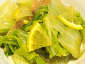 白菜のレモン醤油かけ-2015.7.31