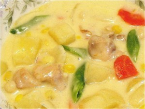 鶏肉のクリームシチュー-2015.8.8