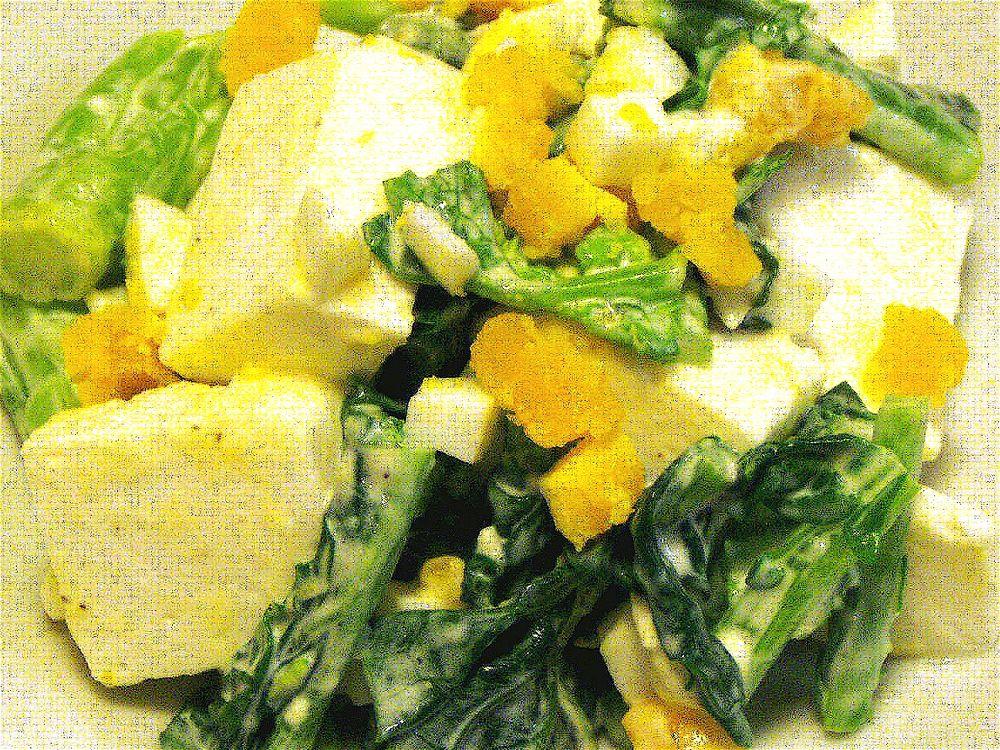 はんぺんの菜の花サラダ