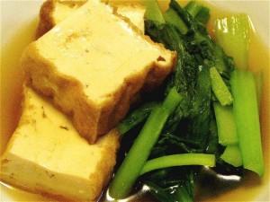 厚揚げと小松菜の煮物-2015.1.4