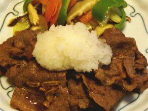 牛肉のおろしかけ-2016.5.10