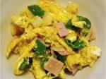 ハム、ピーマン、玉ねぎの卵とじ-2016.6.30