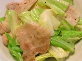 豚バラ肉とキャベツの塩炒め-2016.8.25