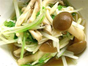 水菜のおひたし-2016.11.3