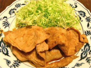 我が家の豚肉のしょうが焼き-2017.9.6