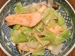 鮭とキャベツのさっぱり炒め-2017.9.30
