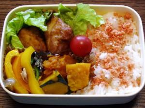 お弁当-我が家の鶏の唐揚げ-2015.7.23