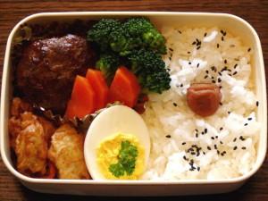 お弁当-我が家のハンバーグ-2015.7.25