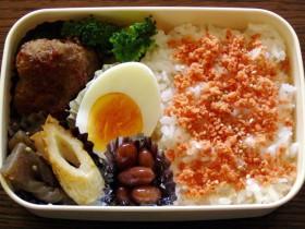 お弁当-我が家のハンバーグ-2015.8.3