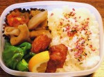 お弁当-鶏の唐揚げ-2015.8.9